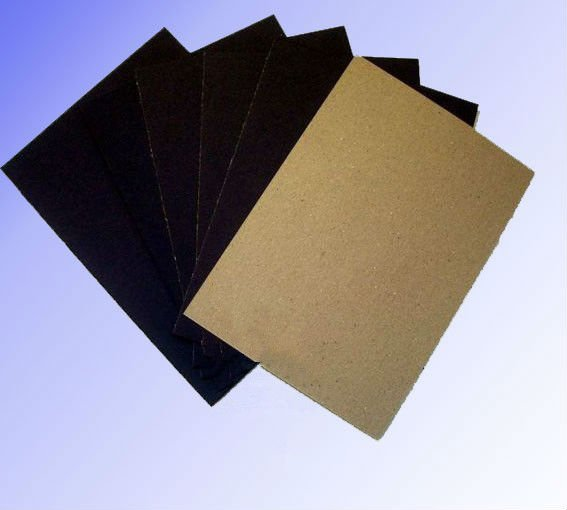 black card paper with gray back / brown back
