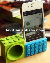 2012 factory price top quality silicon music egg horn stand speaker for iphone 5