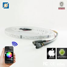 Android/IOS colour changing led strip lights wifi rf remote dc12v/24v rgb led controller wifi