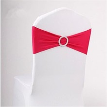 Wedding Spandex Chair Band With Diamond Buckle/ Spandex Chair Sash/ Chair bow