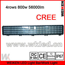 IP67 52 inch 800W 4 row Cree offroad light bar directly from factory