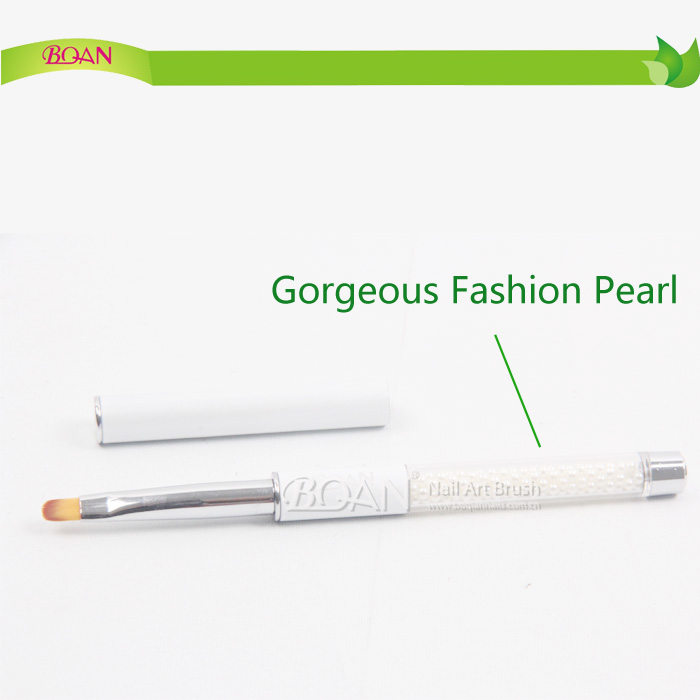 2015 New Arrival BQAN Gorgeous Fashion Pearl Metal Handle Oval Nylon Hair Gel Brush
