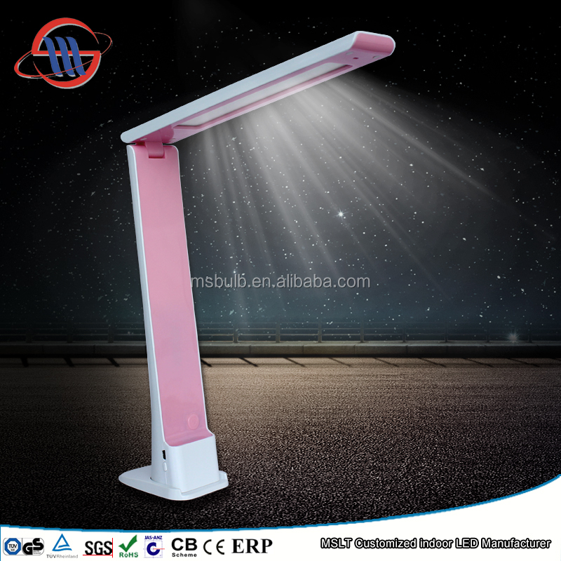 Modern LED Lighting ABS Elegent Office Bedroom Dimmable Rechargable Ultra Bright LED Desk Lamps