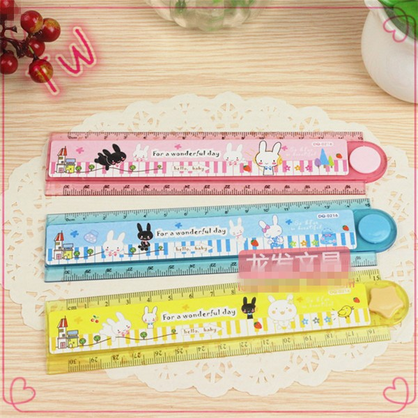 New arrival cute korean kids stationery online shopping ,free sample eco-friendly plastic flexible ruler with logo customized