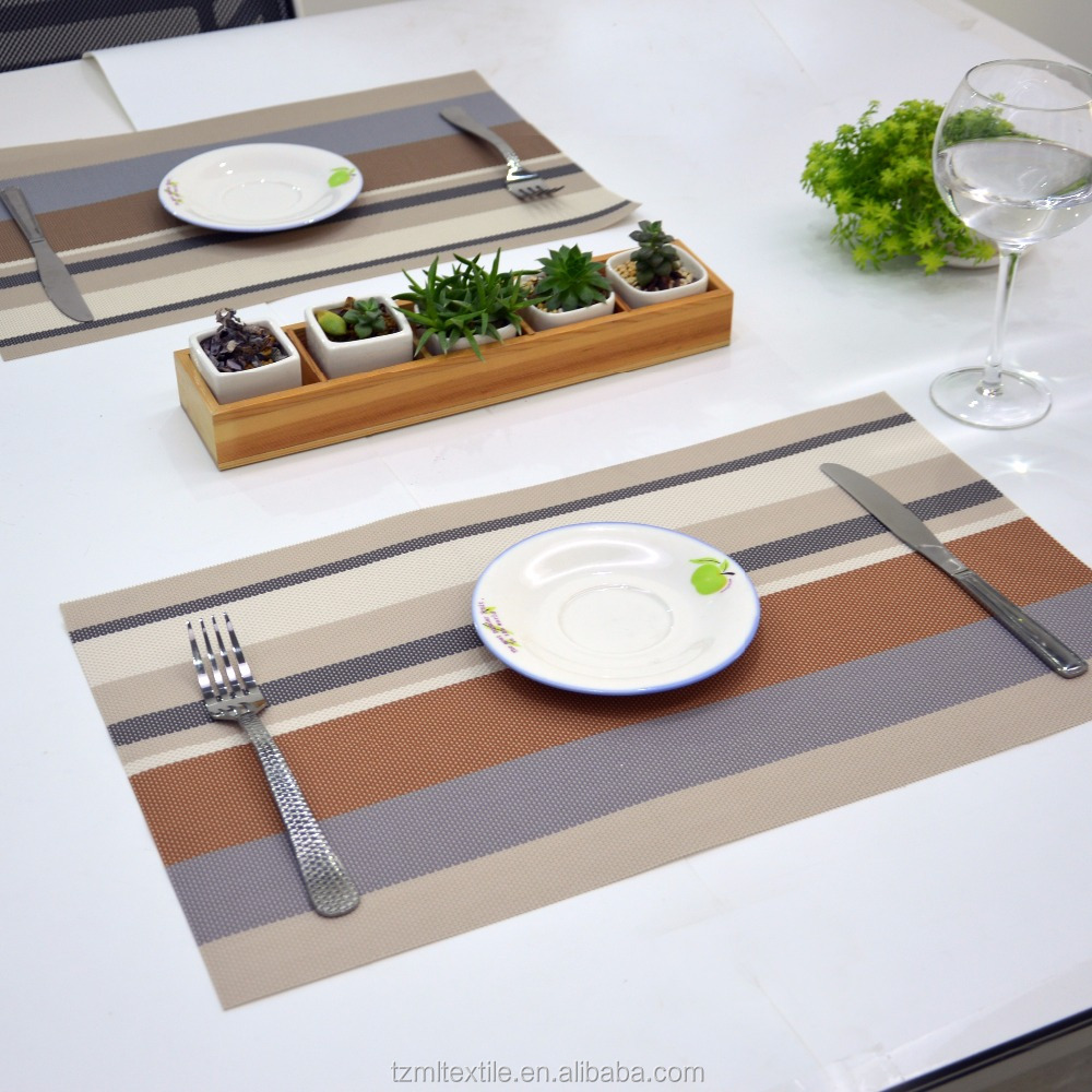 colorful Vinyl PVC tablemat placemat for good matting table mat