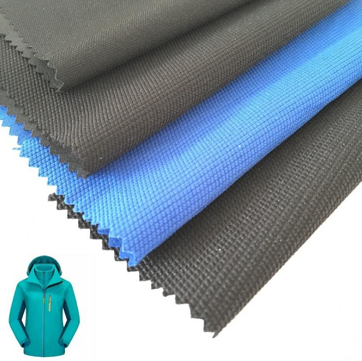 jacquard polyester/spandex breathable waterproof outdoorwear jacket fabric stretch climbing cloth material