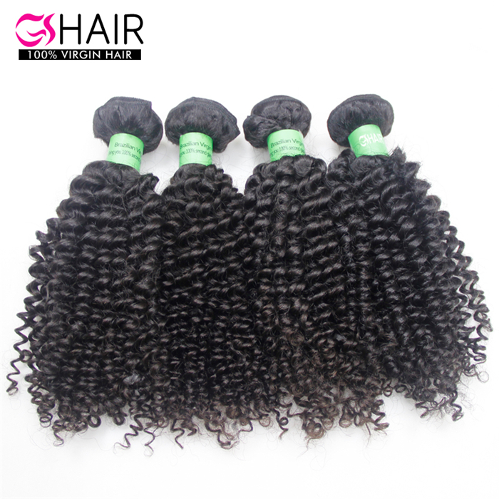 4 bundles brazilian Virgin hair weave kinky curly natural color 1b gs hair free shipping short curly brazilian hair extensions