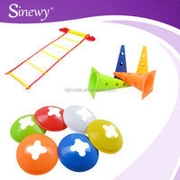 YELLOW Set 5 free stand agility training aid fitness field marking sports agility cones set as seen on tv