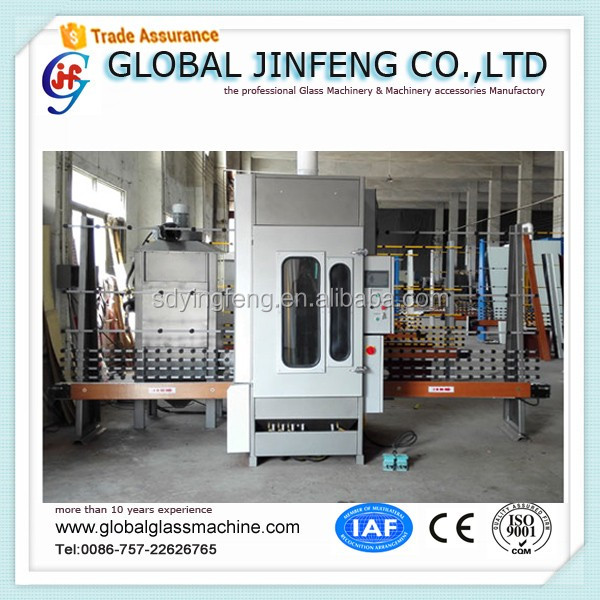 JFP2500 Trade Assurance Vertical PLC automatic 4 guns glass sandblasting machine with CE