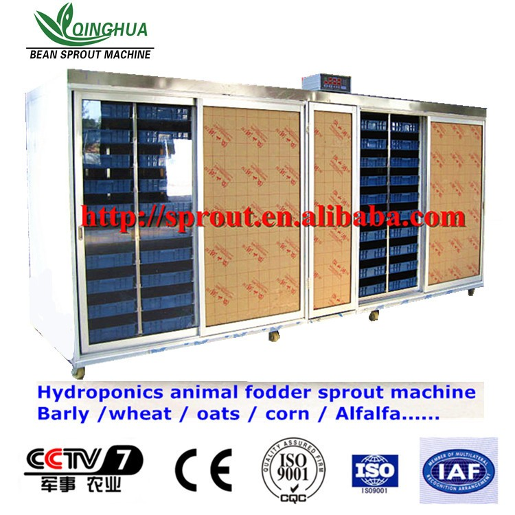 Hydroponics Animal Fodder Machine is full automatic wheat, barley, alfalfa