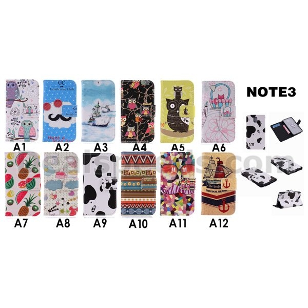 Tribe TPU+Leather Flip Cover Case for Samsung Galaxy Note 3 N9000 N9002 N9005