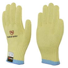 Seeway Aramid Knitted Grade 5 Glass Handing Cut Protection Gloves