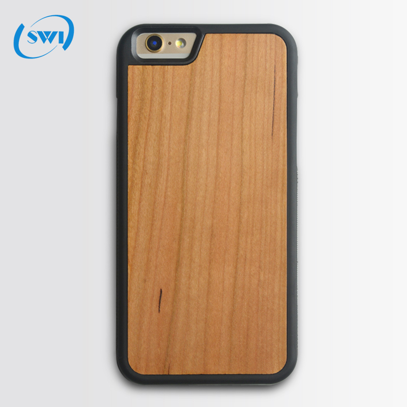 Real wood case blank wooden TPU cell phone case cover for iphone 6, for iphone 6/6s plus custom phone case