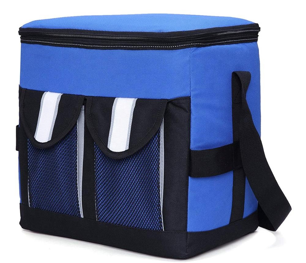 Collapsible Soft Cooler Bag Insulated Picnic Lunch Bag for Adult, Men, Women, Leakproof Liner, <strong>Blue</strong>, Large