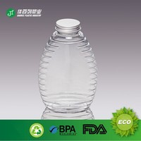 16oz french square shape plastic bottle