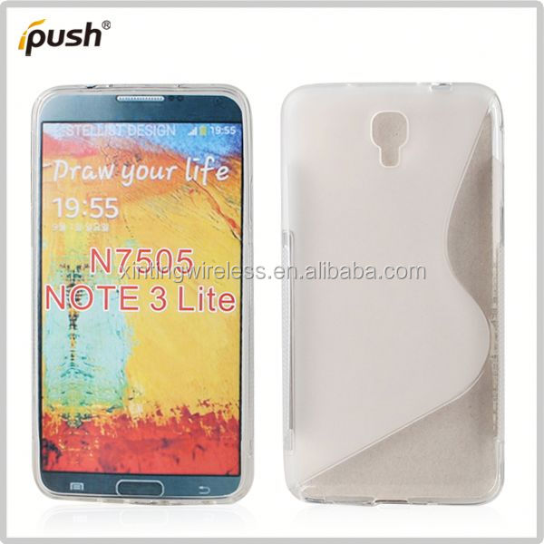 fashion cell phone case s line tpu case for note 3
