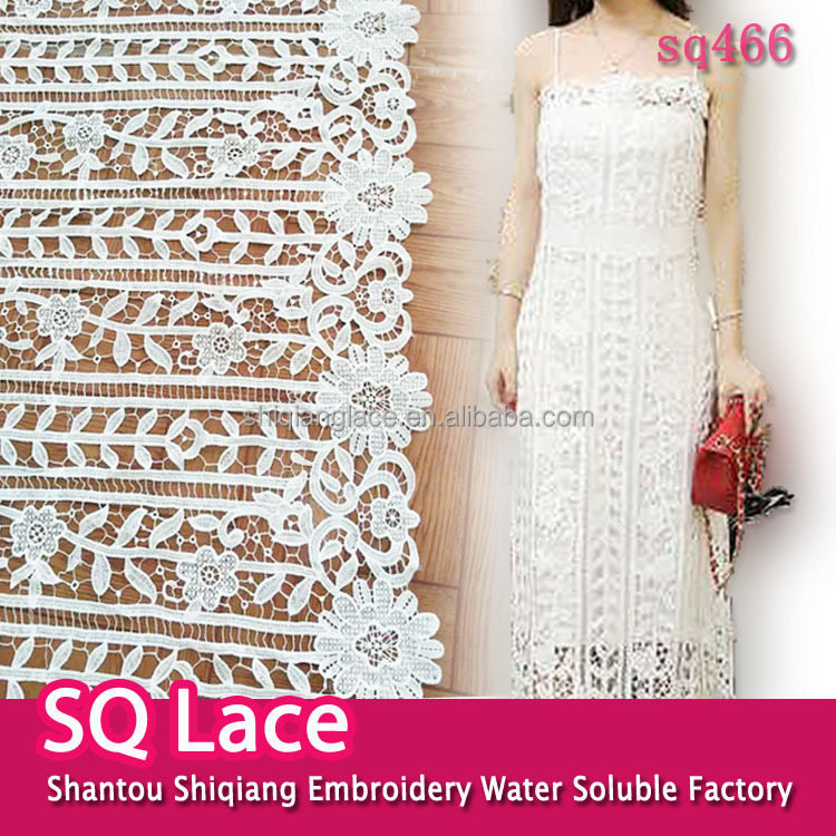 Shantou embroidery fabric flower lace designs