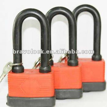 long shackle waterproof laminated padlock