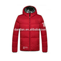 Ultralight Mens Shiny Nylon Fabric Duck Down Jacket For Winters