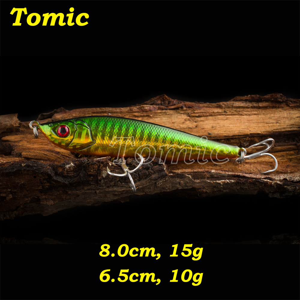 Tomic 10g,15g pencil bait artificial fishing lure