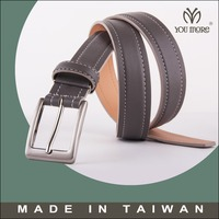 Ultra soft leather belt Ratchet Dress Belt with Pin Buckle