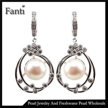 100% genuine freshwater pearl earrings sterling silver earrings for women super deal with gift box wholesale