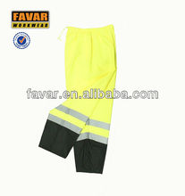 hi-vis trousers fluorescence yellow safety pants