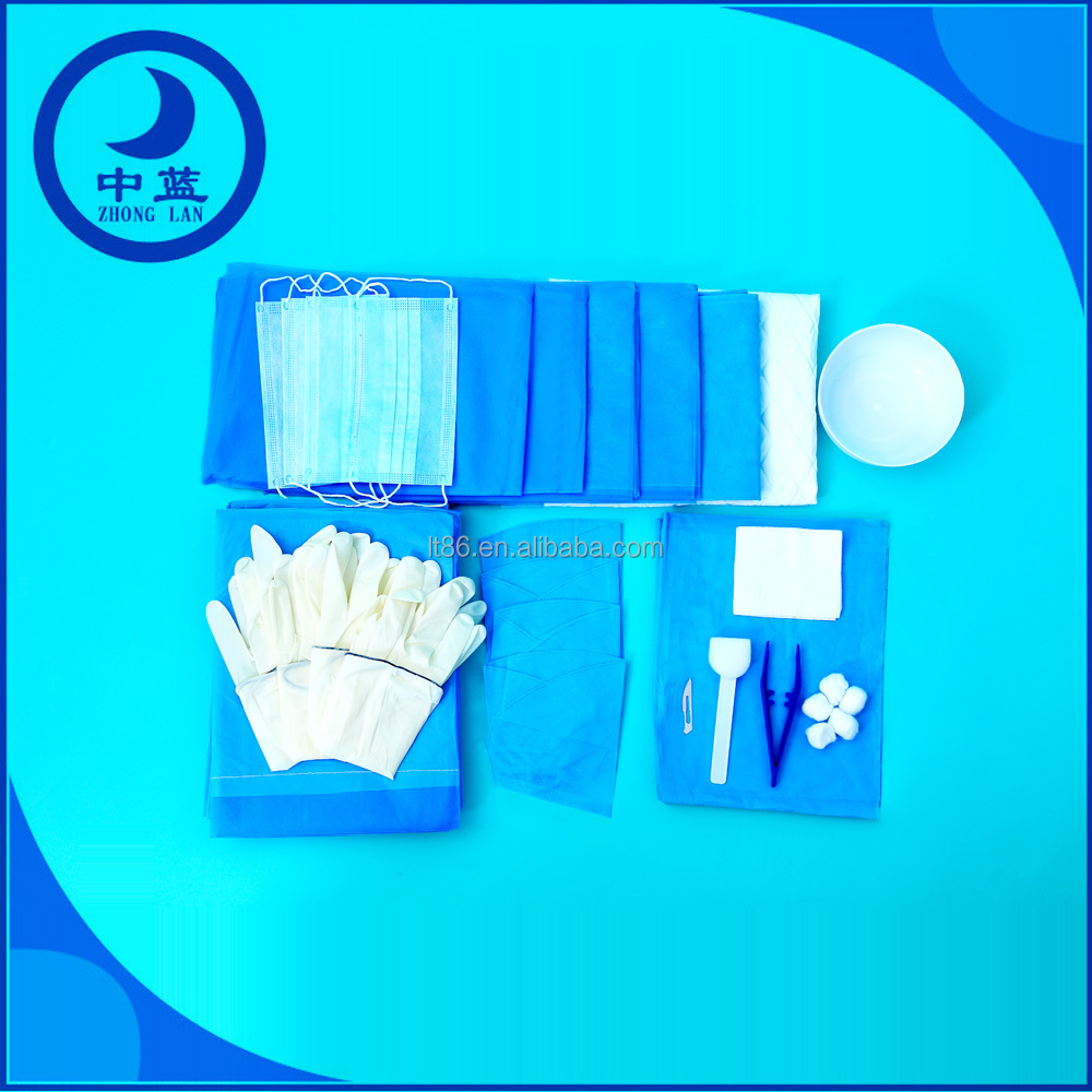 disposable sterile implant surgical kit for wound care