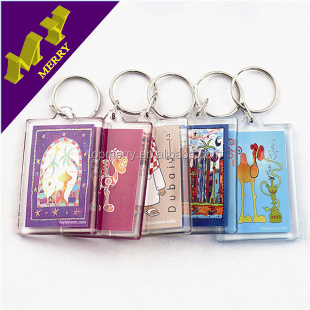 Hot promotional gifts round clear blank acrylic key chain / custom shape printed acrylic keychain maker