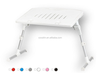 Cooskin Hot selling Plastic portable folding laptop table stand desk bed sofa with Drawer and Cup Holder