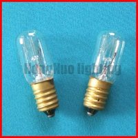 Refrigerator and indicator bulb T18 clear
