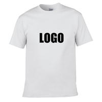 100% Organic Cotton Print your own logo Sublimation Logo Soft Cheap T Shirt