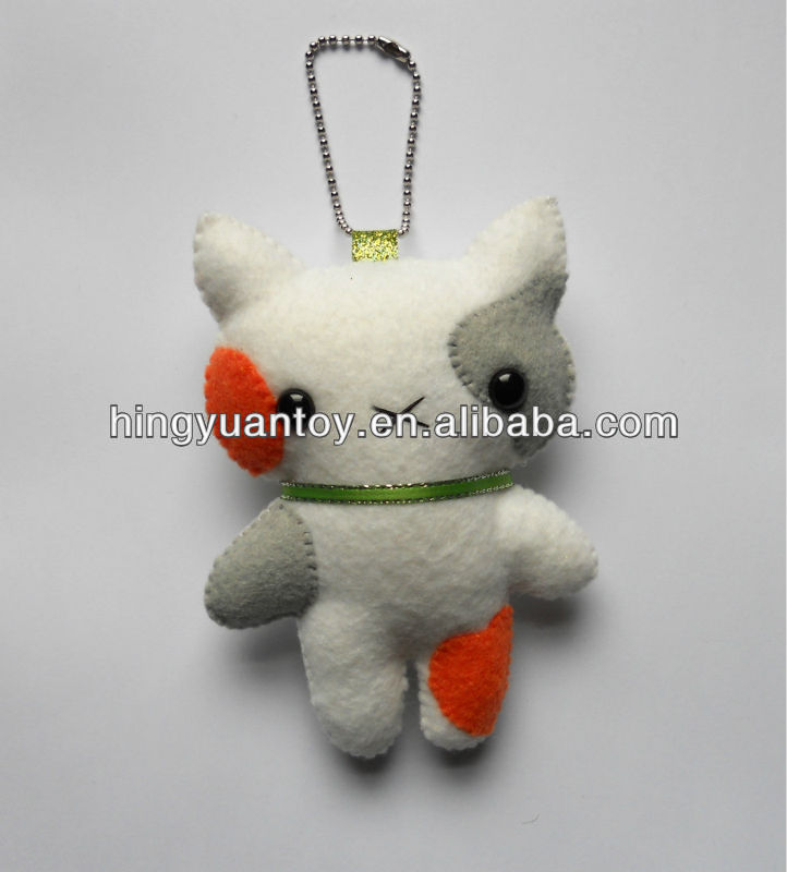 plush keychain with mini bear toy