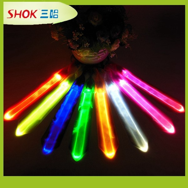 hot!2015 popular hot LED glow luminous tie