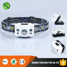Factory wholesale plastic high bright 3w led mining headlamp with goods head strap