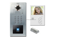 Video door phone video intercom Biometric Fingerprint access design for villa