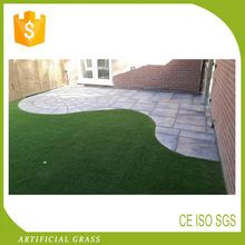 CE Certification Plastic Artificial Grass Created With C Shaped Yarn Flowers
