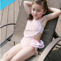 2015 Princess heart design lace girl pretty swimming suit sexy swimwear for kids