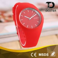 Customized logo promotion waterproof outdoor girl silicone wristband watch