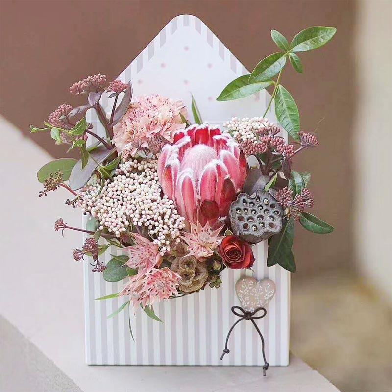 Engagement Customized Printing Cardboard Luxury Envelope Shaped ...