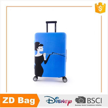 Hot sale wholesale custom logo clear dustproof spandex luggage cover