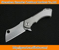 Tough Guy Model D Quality D2 Knife Hunting Camping Knives with TC4 Titanium Handle Rescue Knife 7212