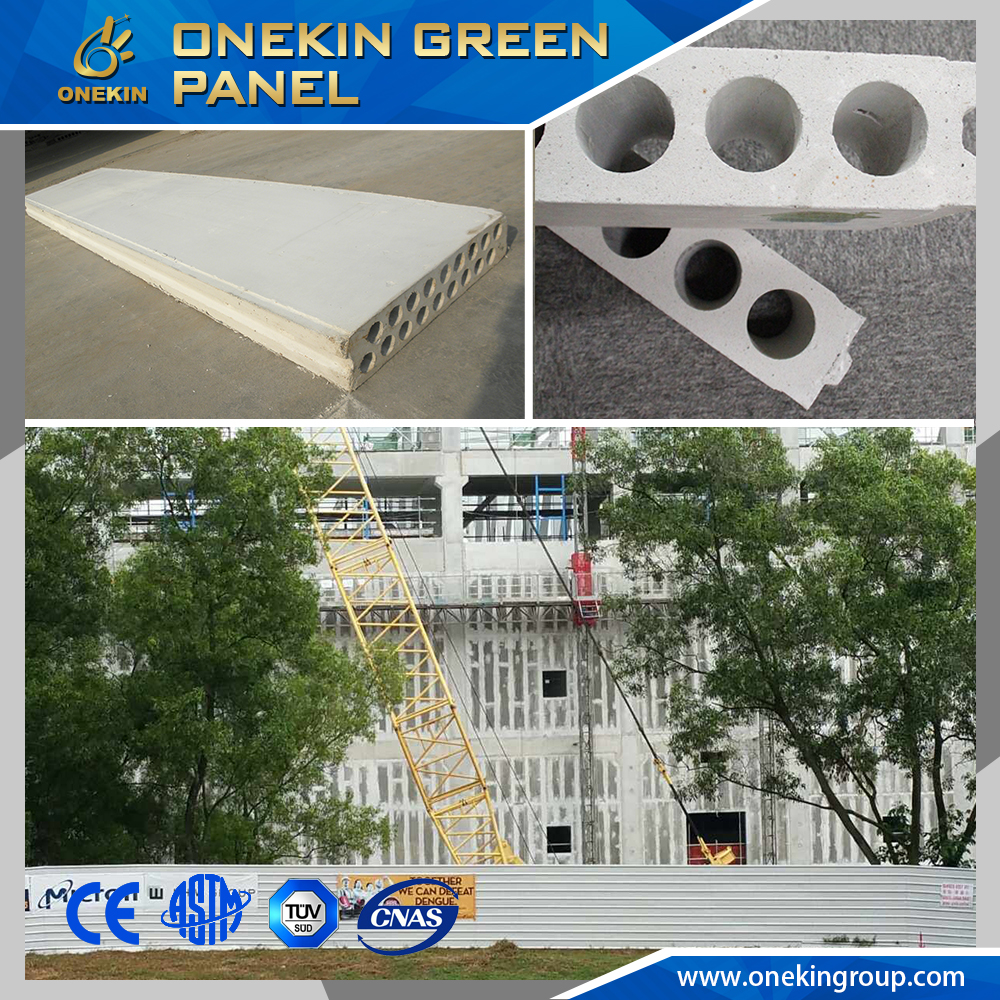 China low price lightweight concrete wall hollow core grc panel