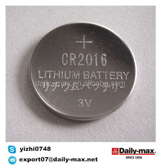 CR2016 3V Button Cell nonrechargeable battery