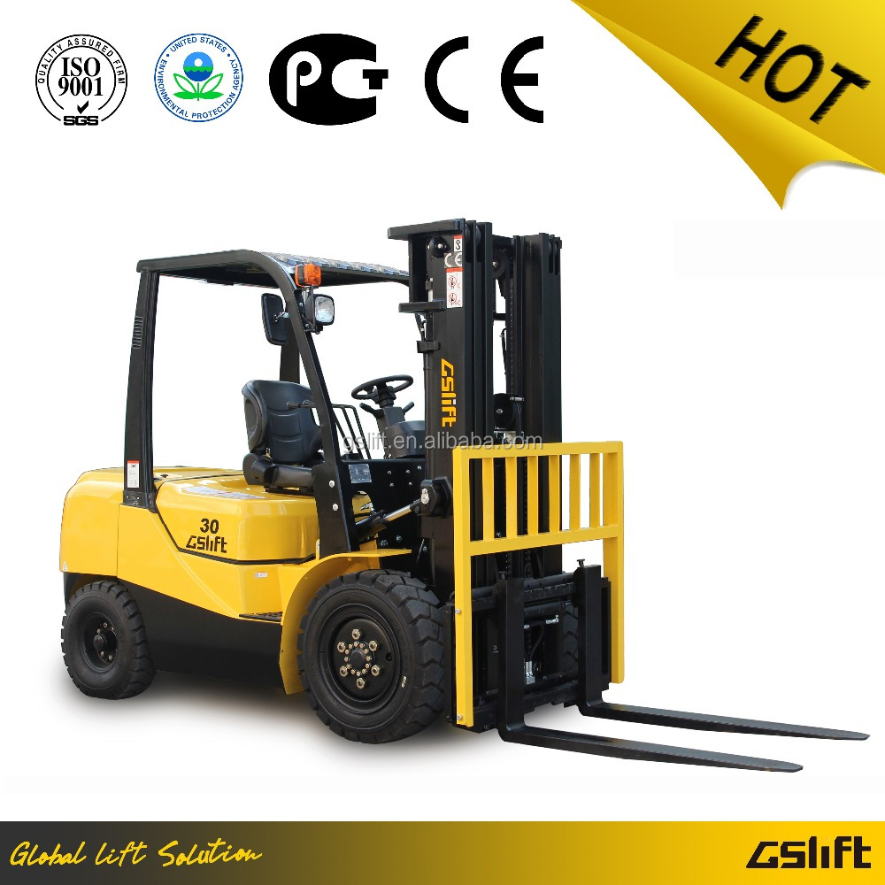 Brand New Toyota 3.0 Ton Diesel Forklift Truck Price with ISUZU/MITSUBISHI/Chinese Engine Optional