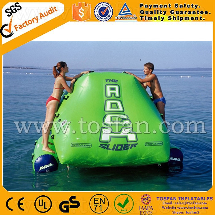 Aqua park inflatable water climbing rock with slip n <strong>slide</strong> A9010A