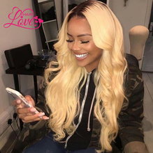 Qingdao Love Hair wholesale long body wave lace front wig blond color brazilian hair full lace wig 32 inches for white women