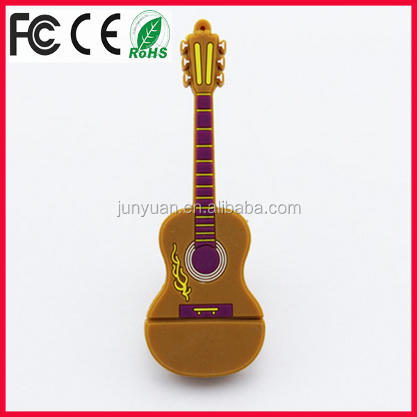 promotional pvc guitar usb flash drive gadget