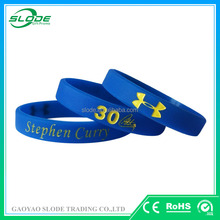 Custom logo debossed & one color filled in silicone wristbands,silicone bracelet