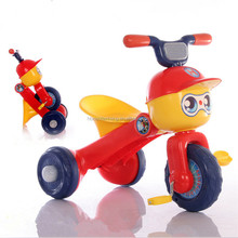 Hot selling cheap price folding plastic kids tricycle with music and light